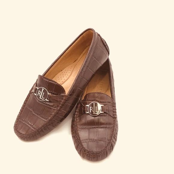 d67b2e06d78 RALPH LAUREN Croc Tan Loafers Flats 6.5 B Carley. M 5ba140c5c9bf50616cb58560